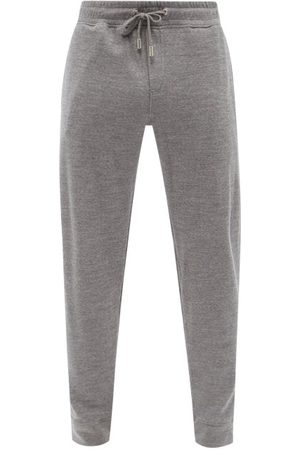 Orlebar Brown Beagi Cotton-jersey Tapered-leg Track Pants - Mens - Grey