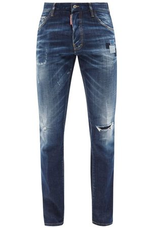 Dsquared2 Cool Guy Distressed Skinny-leg Jeans - Mens - Navy
