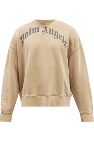 Palm Angels Logo-print Cotton-jersey Sweatshirt - Mens