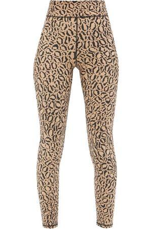 The Upside Leopard-print High-rise Cropped Leggings - Womens - Leopard