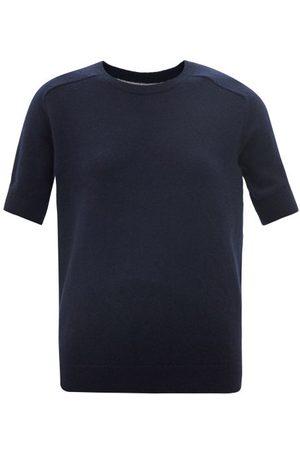 Lisa Yang Women Short sleeves - Kenza Short-sleeved Cashmere Sweater - Womens - Navy