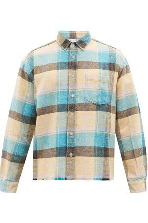 JOHN ELLIOTT Hemi Checked Brushed-cotton Shirt - Mens - Multi