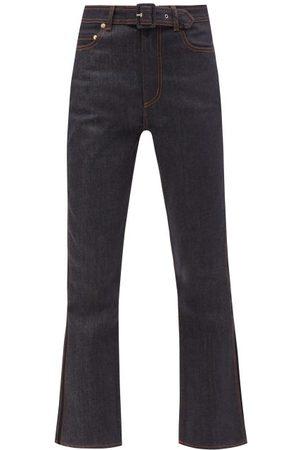 Erdem Nathaniel Floral-print Turn-up Cuff Jeans - Womens