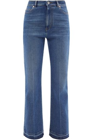 VALENTINO Women High Waisted - High-rise Flared-leg Jeans - Womens - Navy