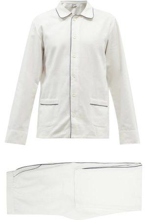 P. Le Moult Piped Cotton Pyjamas - Mens