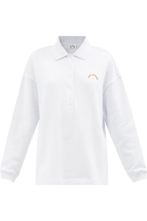 The Upside Logo-embroidered Cotton Long-sleeve Polo Shirt - Womens