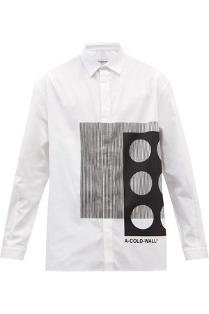 Greater than A Men Shirts - Cold-Wll* - Projection bstrct-print Cotton-poplin Shirt - Mens