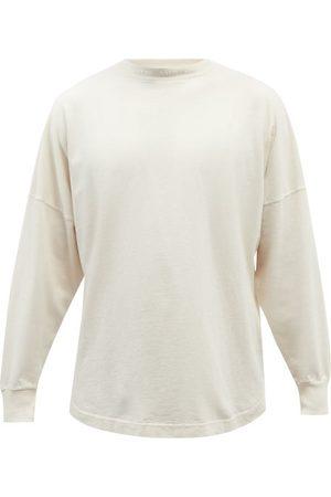 Palm Angels Men Long Sleeve - Logo-print Cotton-jersey Long-sleeved T-shirt - Mens