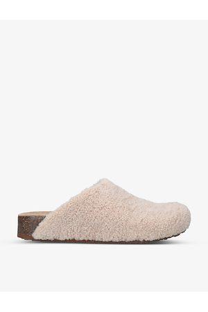 Steve Madden Women Mules - Vesa round-toe fleece mules
