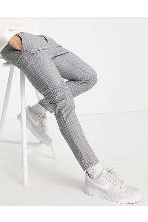 Only & Sons Men Chinos - Plaid pants in -Grey