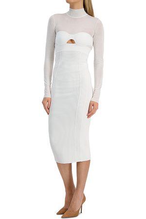 Hervé Léger Women Long sleeves - Long Sleeve Corset Dress