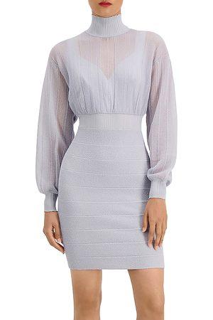Hervé Léger Illusion Mini Dress