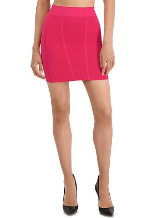 Hervé Léger Ottoman Rib Mini Skirt