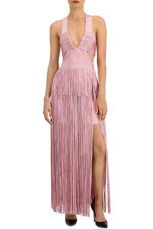 Hervé Léger Women Party Dresses - Fringe Cutout Cocktail Dress