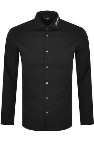 Armani Emporio Logo Long Sleeve Shirt