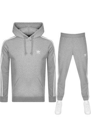 adidas 3 Stripes Tracksuit Grey