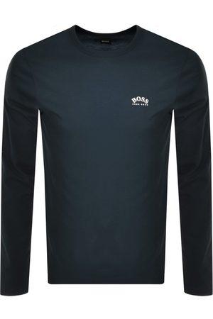 HUGO BOSS Men Long Sleeve - BOSS Togn Curved Long Sleeve T Shirt Navy