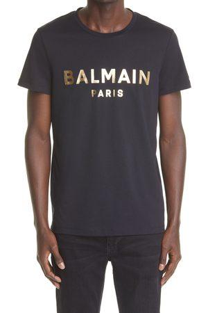 Balmain Men's Foil Logo Graphic Tee