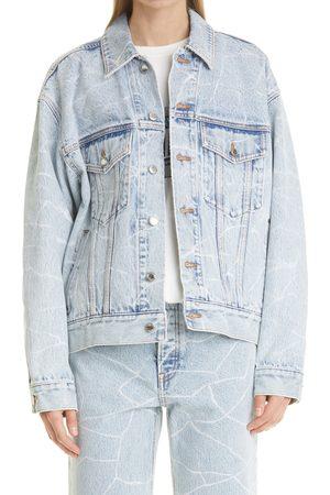Alexander Wang Women's Oversize Crinkle Cotton Denim Jacket