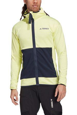 adidas Men's Terrex Tech Fleece Light Hooded Hiking Jacket