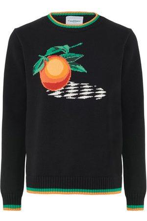 Casablanca Orange crew neck sweater