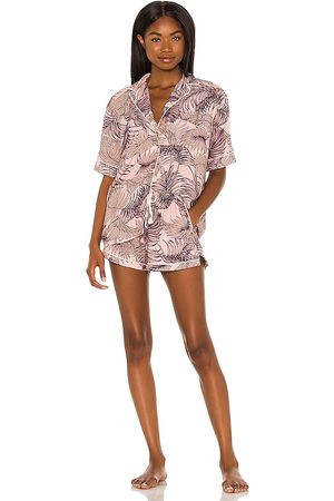 Maaji Short Sleeve Pajama Set in Mauve.
