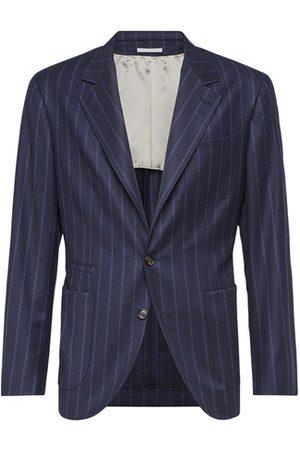 Brunello Cucinelli Chalk stripe deconstructed blazer