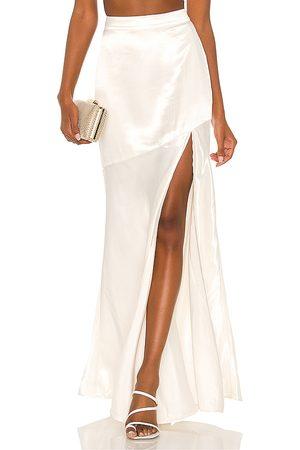 MAJORELLE Daniela Maxi Skirt in Ivory.
