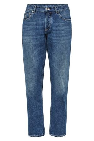Brunello Cucinelli Men Straight - Traditional fit trousers with selvedge