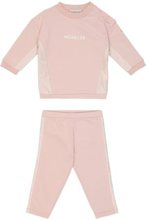 Moncler Baby stretch-cotton sweatshirt and pants set