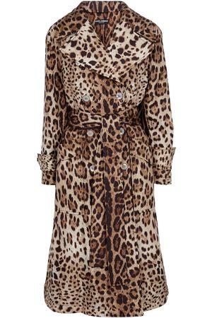 Dolce & Gabbana Women Trench Coats - Leopard-print trench coat