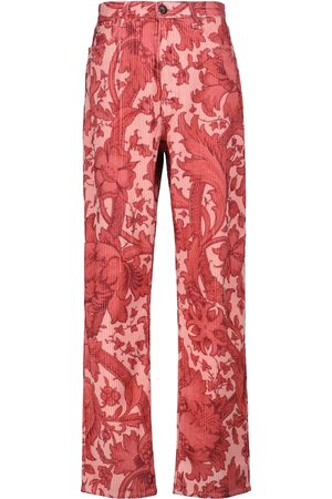 Etro Printed corduroy straight pants