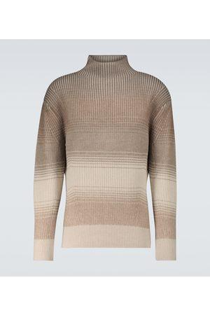Loro Piana Men High Necks - Fade cashmere-blend turtleneck