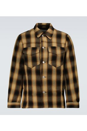 DRIES VAN NOTEN Checked cotton flannel overshirt