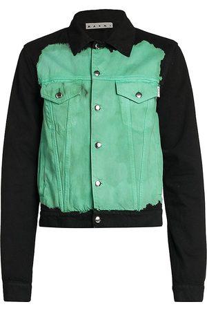 Marni Color-Blocked Denim Jacket
