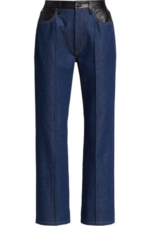 Goldsign Martin Leather-Trim Flare Jeans