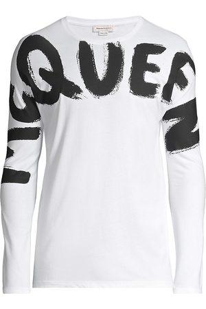 Alexander McQueen Graffiti Print Long-Sleeve T-Shirt