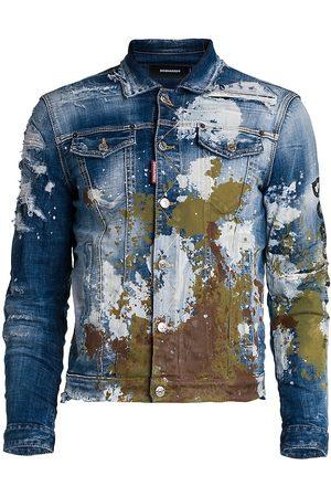 Dsquared2 Cool Guy Paint Splatter Denim Jacket