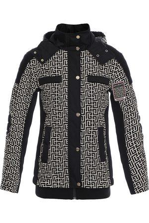 Balmain Monogram Hooded Ski Jacket