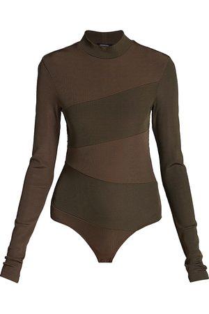 Goldsign Pieced Mockneck Bodysuit