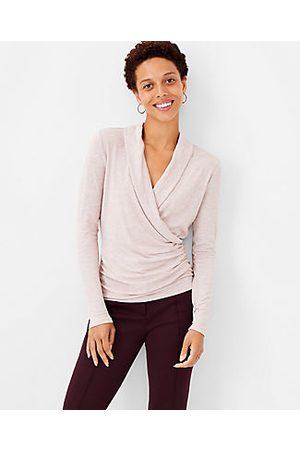 ANN TAYLOR Women Wrap tops - Shawl Collar Wrap Top