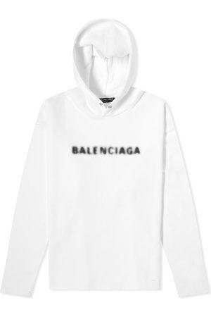 Balenciaga Men Hoodies - Blurred Logo Popover Hoody
