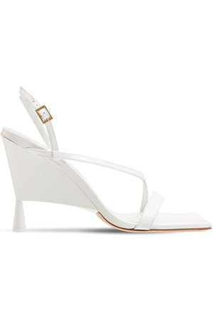 GIA 100mm Rosie 5 Patent Leather Sandals