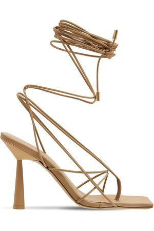 GIA 100mm Rosie 6 Rubberized Lace-up Sandals