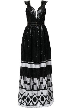 Saiid Kobeisy Women Maxi Dresses - Sequinned sleeveless maxi dress