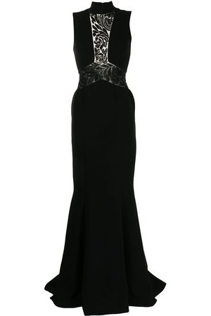 Saiid Kobeisy Open-back fitted gown