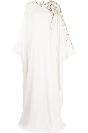 Saiid Kobeisy Bead-embellished long kaftan dress