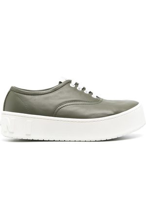 Marni Women Sneakers - Chunky rubber sole leather sneakers