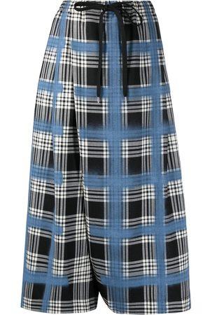 Marni Women Pants - Check-print cropped trousers