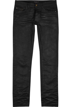 Saint Laurent Men Slim - Coated slim-leg jeans